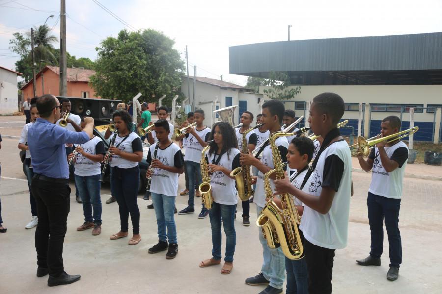 Alvorada com Banda Santa Ana no Aniversário da cidade de Chapada da Natividade-TO